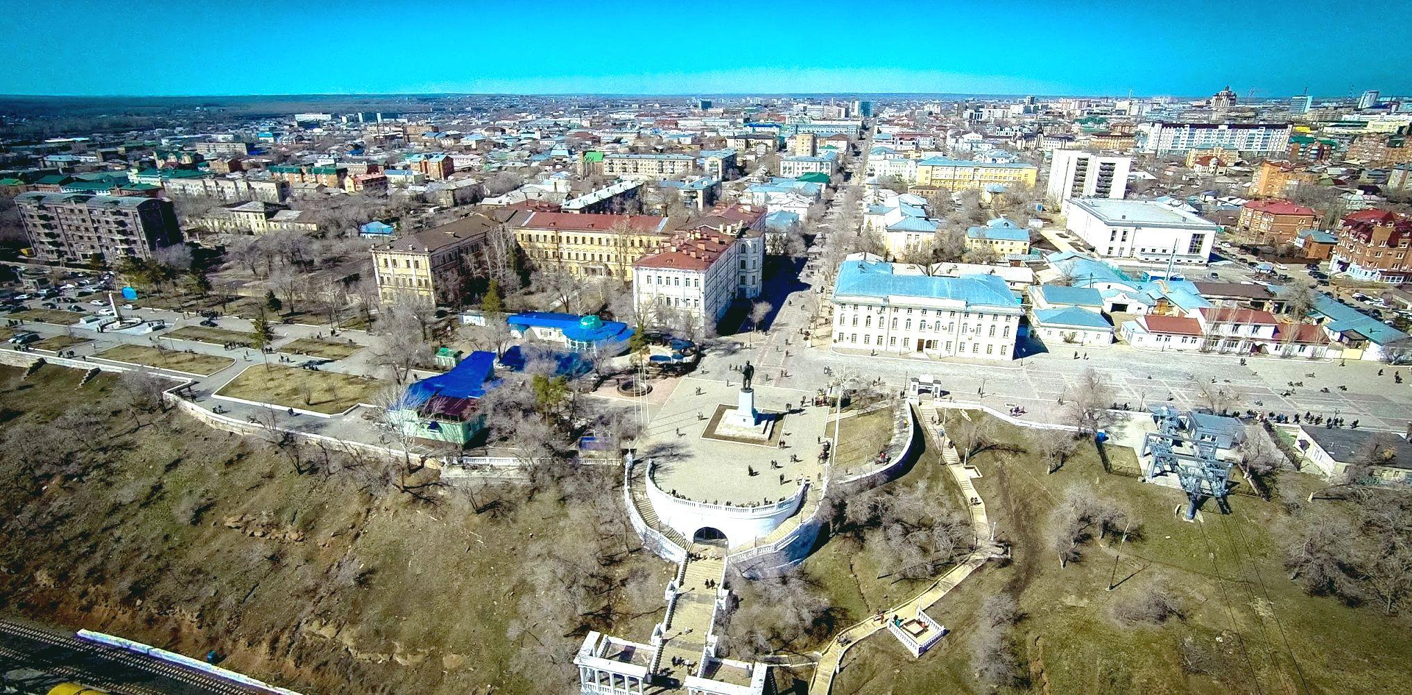 Беловка - набережная реки Урал