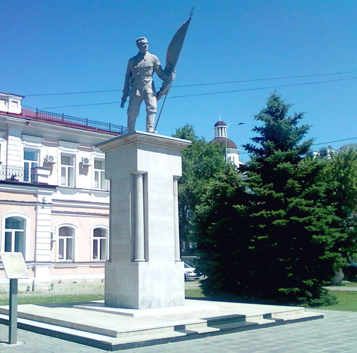 Памятник жертвам набега белоказаков на Оренбург 4 апреля 1918 г.
