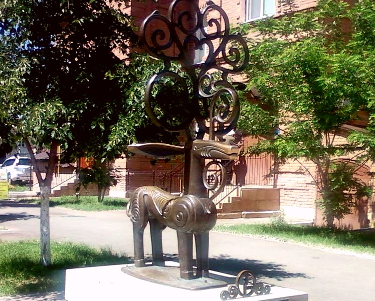 Скульптура сарматского оленя